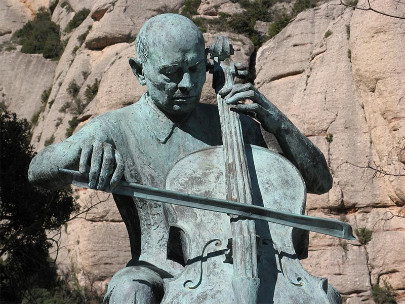 Statue of Pau Casals on Montserrat outside Barcelona.