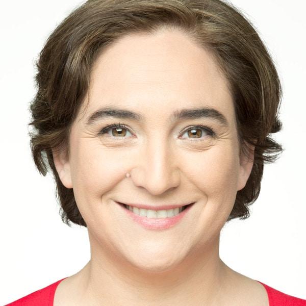 Portrait of Ada Colau, mayor of Barcelona