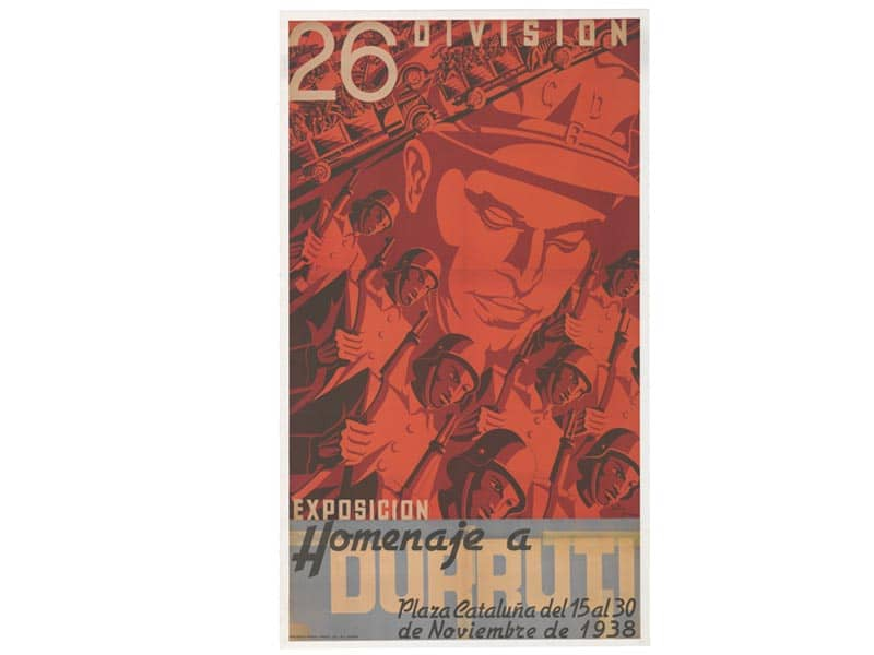 1938 - Poster announcing a tribute to Durruti