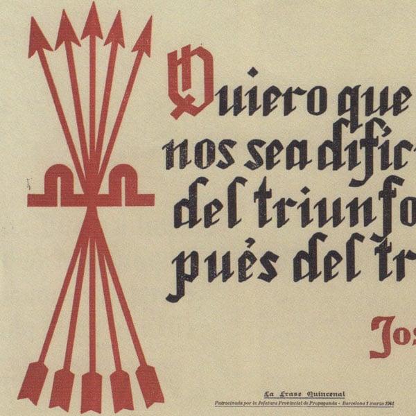 Falange propaganda poster