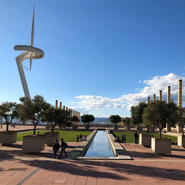 Olympic torch on Montjuic Barcelona