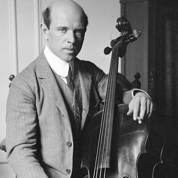 c. 1910s - 1920s Pau Casals with Cello